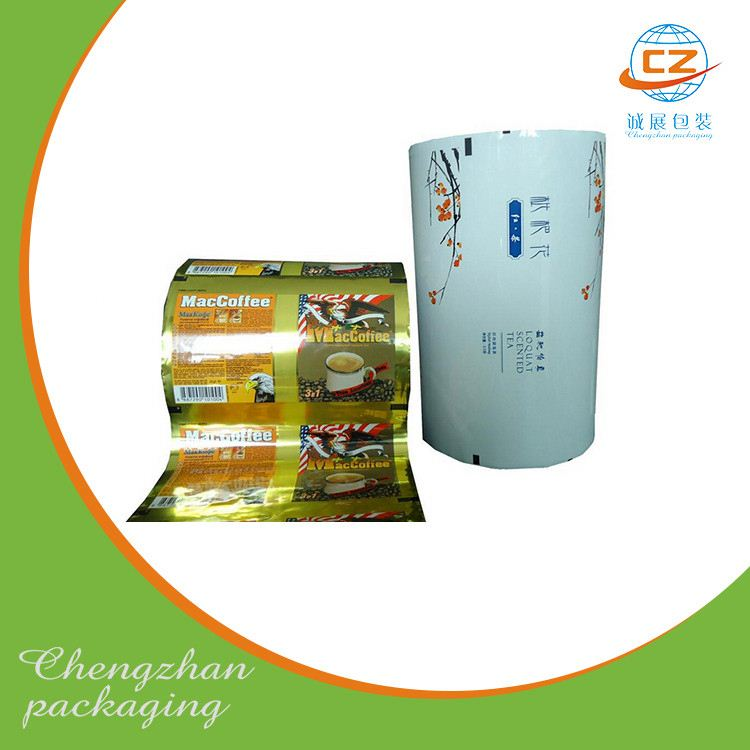 Plastic potato chips al printed packaging film rolls