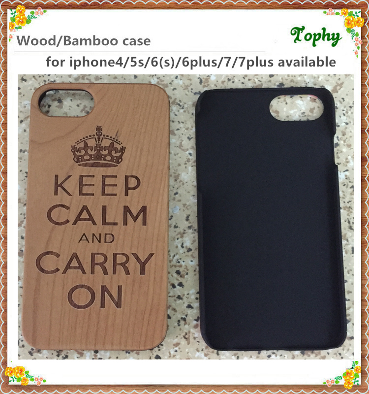 DIY Special Wood Phone Case For IPhone 6 Plus, wood mobile case, custom design wooden cell phone case for iPhone 7