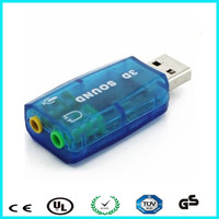 High quality external 3d sound card usb driver for laptop / PC