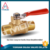 gas vlave brass ball valve gas pipe fitting 1/4 inch gas brass ball valve with high quality and CE approved