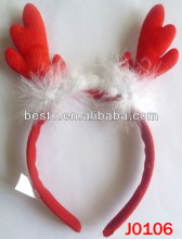 J 0106 2014 new style fashion red deer design fur animal party headband for kids