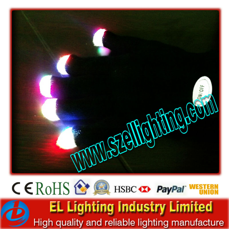 Top Quality Beautiful LED Glow Glove