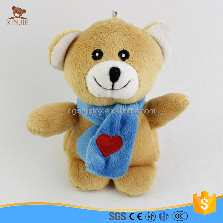 custom made mini plush bear keychain toy