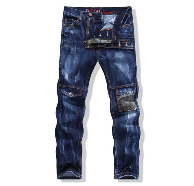 NEW 2015 hot sell mens fashion skinny denim motorcycle hip hop rock biker pantalones vaqueros hombre jeans plus size men pants