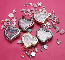 20mm Floating Locket Plates in Gold, Silver, & Rose Gold for Origami Owl or Glass Memory Lockets