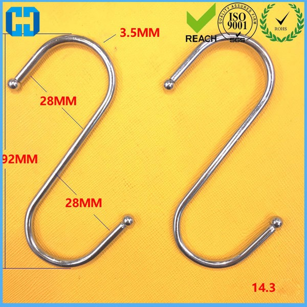 Wholesale Stainless Steel Hanger Clasp Rack S Shape Hooks Clothes Cap Hooks