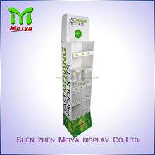 Recyclable supermarket promotion corrugated cardboard display shelves for LED bulb