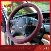 4-spoke Deluxe Stretchy Summer Anti Sweat Durable Stitches PVC Leather Auto Van Car Steering Wheel Cover Shell