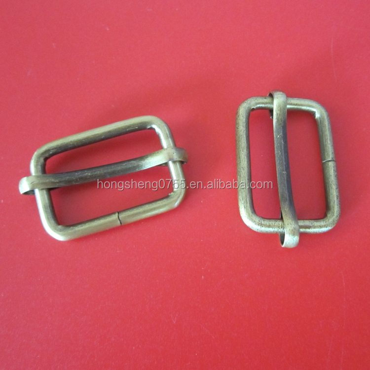 1 inch metal adjustable strap slider release buckle for handbag