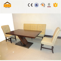 new design american wooden dinning table set