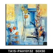 Abstract glass vase flower canvas painting made in china