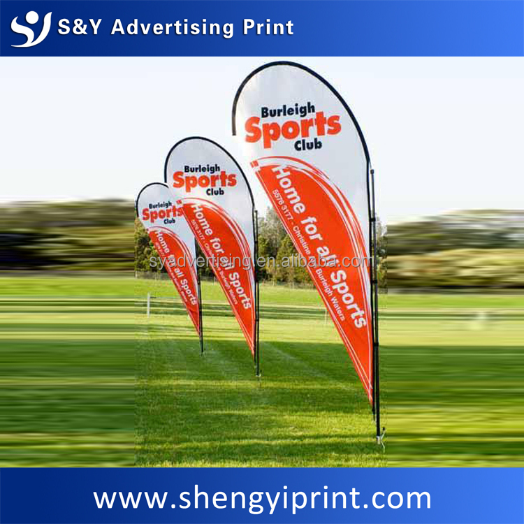 Advertising custom beach flag banner, wholesale UV water proof national flag