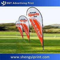 Advertising custom beach flag banner, wholesale UV water proof national flag