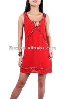 2015 fashion red sexy laides dress FH20140014