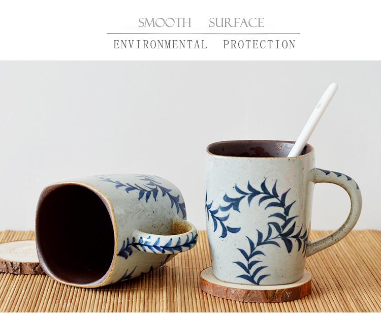unique design blue and white ceramic tea cups