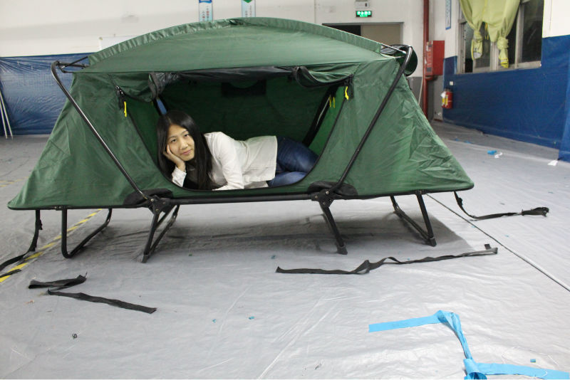 Smart tent off ground tent above ground rainfly bed outdoor folding