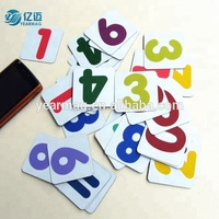 China make fridge magnet letters, magnetic alphabets with gloss lamination for kids educational toy