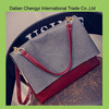 Wholesale fashionable girls pu shoulder bag with safe ladle cover closure