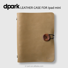 d-park 2016 new design real leather case cover for iPad mini 4