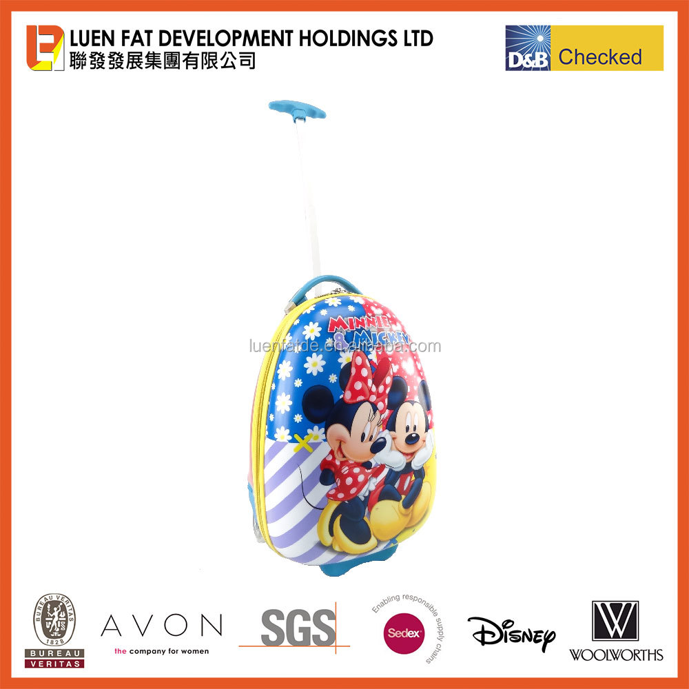 Children ABS panel Mickey Mouse hard shell trolley rolling luggage