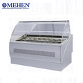Popular design hard ice cream gelato display freezer for supermarket