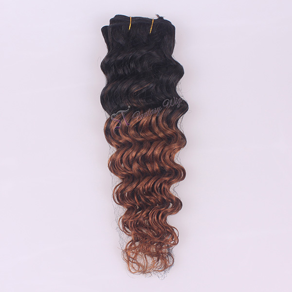 ST 2016 new style deep wave two tone color remy human hair weft for black women