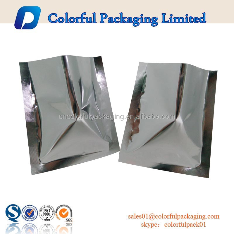 wholesale disposable 3 side seal aluminum foil plastic hair shampoo shower gel flat sachet plain single-use packaging bags