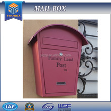 2017 YOOBOX Powder coating reliable quality stone postbox that waterproof and cheap postbox