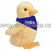 baby duck plush toys custom logo printed bandana mascot animal toys giveaway 661