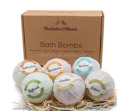 6 Pack of Large Bath bombs with Organic Natural Ingredient bath bomb with toy
