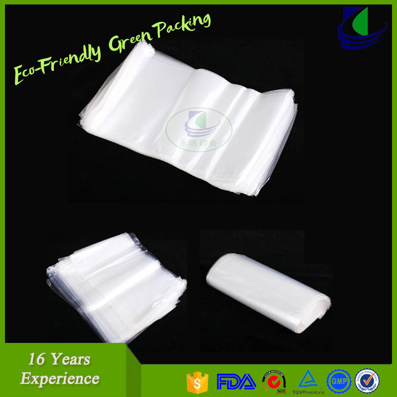 Custom logo nylon plastic frozen food bag for vacuum sea food