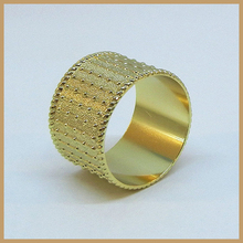 NP#153 Alibaba cheap bulk gold plated napkin rings for weddings