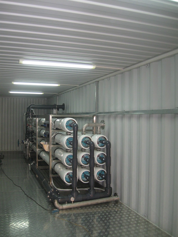 Container Reverse Osmosis Desalination Water Purify Machine System Filter Plant Execution Of Works