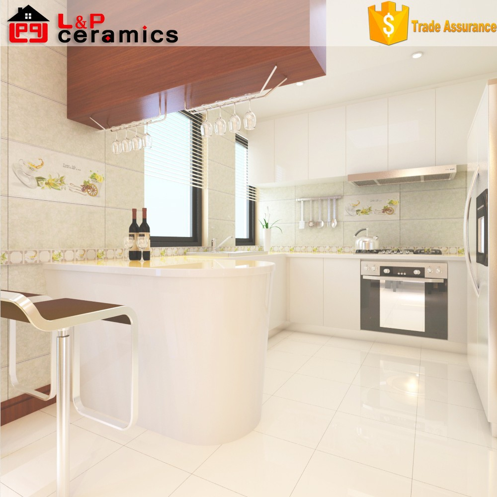 Showcase Product White Embossed Kitchen Ceramic Wall Tile