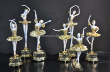supply elegant art deco ballerina sculpture,ballet dancer figurine