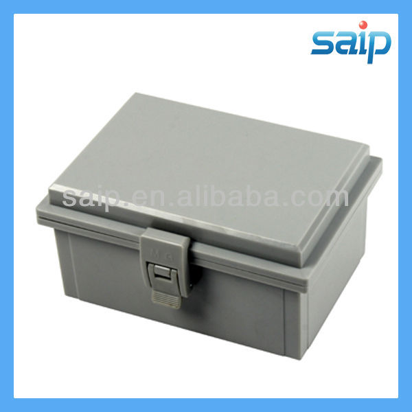 2013 Newest IP66 ABS small waterproof plastic latch and hinge type junction box/encloure/case