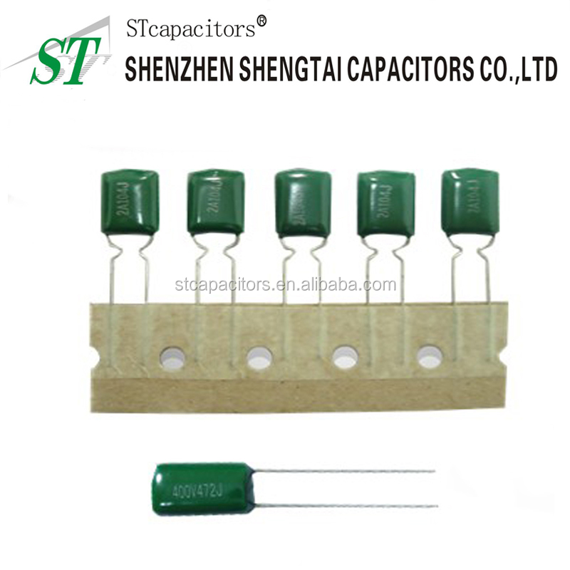 Factory price polyester film capacitors 1uf 400v