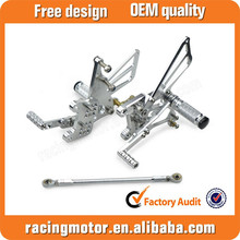 Motorcycle CNC Adjustable Rearset Foot pegs Rear Sets For Triumph T509/T595/955i/Speed Triple 05-10 Street Bike