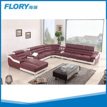 2016 modern home furniture leather sectional sofa with Bluetooth Speaker F1377#