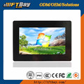 7'' industrial open frame monitor with touch screen I/O customized