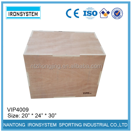 3 in 1 Wood Plyometric Box for Jump Training and Conditioning 30/24/20, 24/20/16, 20/18/16, 16/14/12