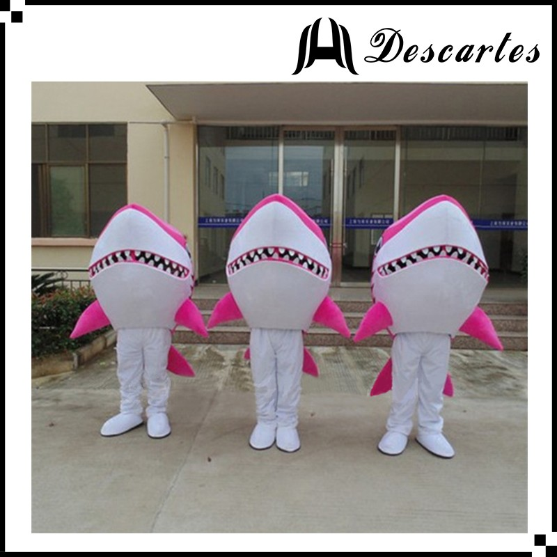 Festival dress shark walking costume, adult red shark costume for stage events
