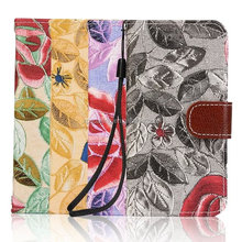 Luxury flower Wallet stand case for iPhone 5 SE, Sling flip Photo frame case for iPhone 5 SE