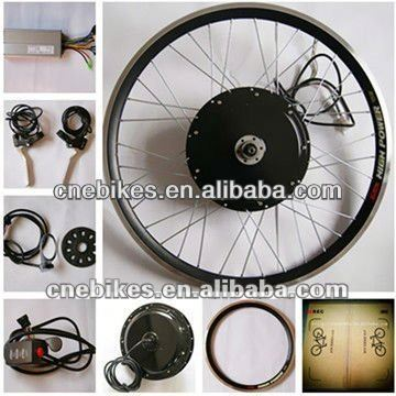 CE approved !front/rear wheel 48v 1000w gearless hub motor electric bike convesion kit with pack battery