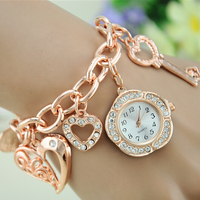 Fashion Jewelry Allloy Band Pendant Ladies Bracelet Watch