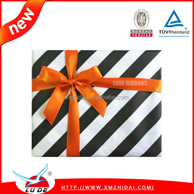 polyester ribbon bows for gift box package