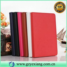 Lychee pattern leather case for ipad cover