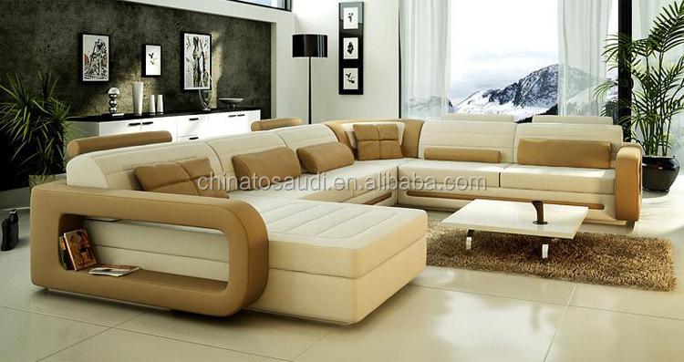Elegant Furniture Leather Sofa Set