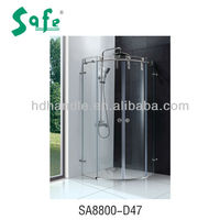 Arc Sliding door glass bathroom showers with high quality