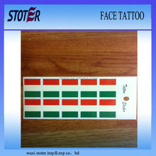 face tattoo sticker for 2014 world cup football fans